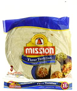 Amazon.com: Mission, Large Burritos Size, Flour Tortillas