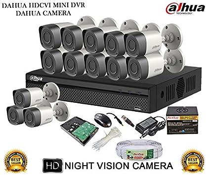 Dahua-DH-HCVR4116HS-S2-16CH-Dvr,-13(DH-HAC-HFW1000RP-0360B)-Bullet-Camera-(With-Accessories,2TB-HDD)