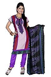 Multi Crepe Dress Material - VD11989