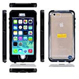 For Iphone 6 4.7 Waterproof Case Cover. Nancy's Shop Newest Product Full-body Protective Case Premium [Ip68] Waterproof Shockproof Scratchproof Snowproof Dustproof Dirtproof Durable Full Sealed Protection Case Cover for Apple Iphone 6 (4.7inch)- (3-black Nancy's Shop Iphone 6 Waterproof Case)