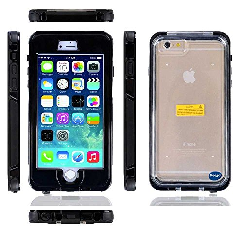 For Iphone 6 4.7 Waterproof Case Cover. Nancy'S Shop Newest Product Full-Body Protective Case Premium [Ip68] Waterproof Shockproof Scratchproof Snowproof Dustproof Dirtproof Durable Full Sealed Protection Case Cover For Apple Iphone 6 (4.7Inch)- (3-Black