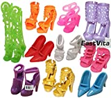 Eastvita® 10 Pairs of Doll Shoes, Fit Barbie Dolls (Exactly As in Photo)