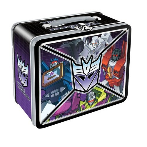 7.75 Inches X 6.75 Inches Transformers - Decepticons Retro Style Glossy Lunch Box