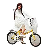 自転車 用 レインコート レディース ポンチョ 型 ドット 柄 レインウェアー 雨具 カッパ