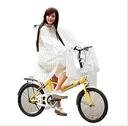 自転車 用 レインコート レディース ポンチョ 型 ドット 柄 レインウェアー 雨具 カッパ ピンク パープル