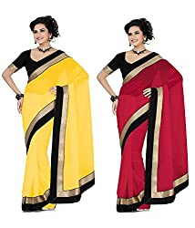 MUTA SIMPLY SAREE COMBO PACK WITH BLOUSE PIESE
