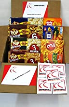 Popcorn Gift Box with Flavored Microwave Popcorn from Act II Jolly Time and Pop Weaver Sweet and Sav
