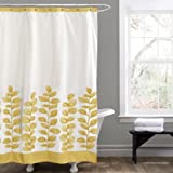 Lush Decor Vineyard Allure Shower Curtain, Yellow