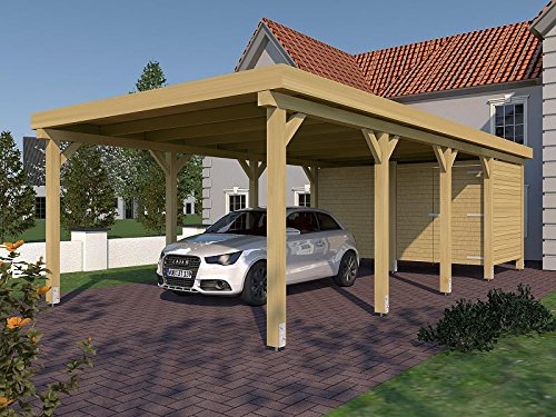 carport flachdach valencia ii 400 cm x 800 cm mit ger teraum. Black Bedroom Furniture Sets. Home Design Ideas