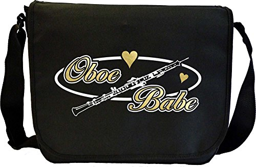 Oboe Babe Oval - Sheet Music Document Bag Borsa Spartiti MusicaliTee
