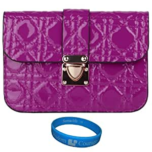Vangoddy Quilted PU Leather Cell Phone Bag Pouch Case