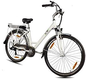 LLobe Erwachsene 28 Zoll City E-bike Blanche, Weiß, 49 cm, 130705