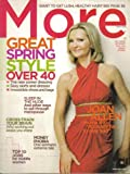 img - for MORE MAGAZINE (March 2008) Featuring: JOAN ALLEN + GREAT SPRING STYLE + CROSS-TRAIN YOUR BRAIN book / textbook / text book