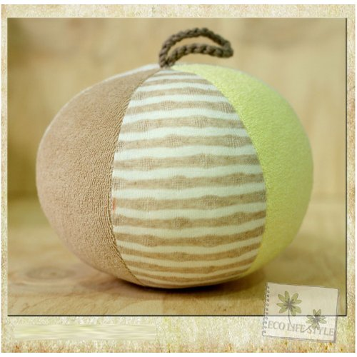 100% Certified Organic Cotton Animal - Rattle Ball (13Cm X 15Cm) front-770022