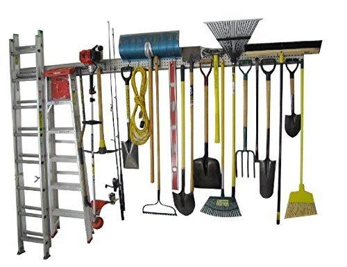 Holeyrail, Garage Organizer, Garage Organizer, 8 Foot, Industrial Quality (Tool Hangers compare prices)