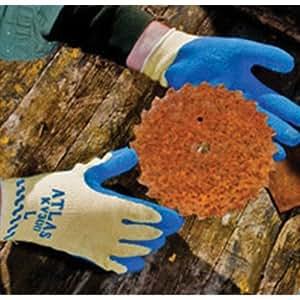 Best ® Atlas Grip KV300 Natural Rubber Palm Coated Work Gloves - Size 9 Blue - KV300-09
