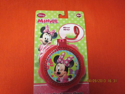 Disneys Minnie Mouse Compact Brush with Mirror - 1