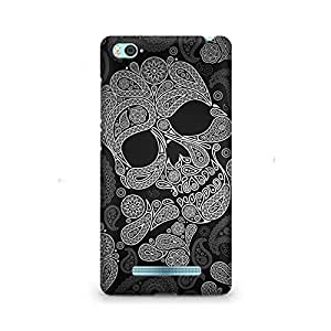 Motivatebox- Paisley Skull Premium Printed Case For Xiaomi Redmi Mi5 -Matte Polycarbonate 3D Hard case Mobile Cell Phone Protective BACK CASE COVER. Hard Shockproof Scratch-