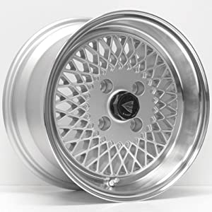 15x8 Enkei ENKEI92 (Silver w/ Machined Lip) Wheels/Rims 4x100 (465-580-4925SP)