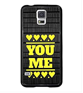 Fuson Premium 2D Back Case Cover you and me With White Background Degined For Samsung Galaxy S5 G900i::Samsung Galaxy S5 i9600::Samsung Galaxy S5 G900F