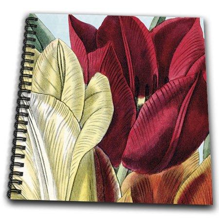 PS Vintage - Vintage Tulip Flowers - Memory Book 12 x 12 inch (db_203816_2)