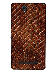 Print Haat Back Case for Sony Xperia C3 (Multi-Color)