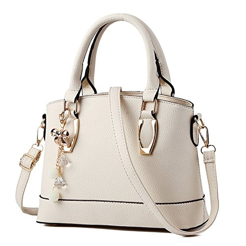 Cloudbag HB30118 PU Leather Handbag for Women,Trend Solid Shell Bag - 2016,Linen (Charming Charlie compare prices)