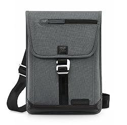 Brenthaven Collins Vertical Messenger Bag   Charcoal
