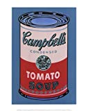(11x14) Andy Warhol Campbell's Soup Can 1965 Pink & Red Art Print Poster