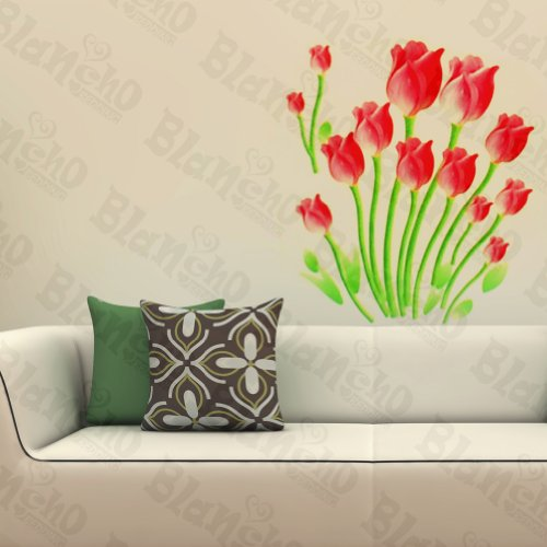 Gentle Tulips - Wall Decals Stickers Appliques Home D¨¦Cor