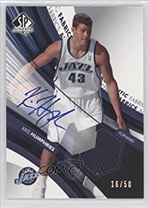 Kris Humphries #16 50 Utah Jazz (Basketball Card) 2004-05 SP Authentic Autographed... by SP Authentic