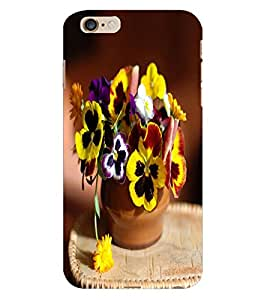 Fuson 3D Printed Flowers Designer Back Case Cover for Apple iPhone 6 Plus - D764