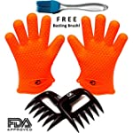 No. 1 Silicone BBQ / Cooking Gloves P...