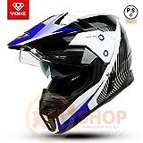 バイクヘルメット ヘルメット フルフェイスヘルメット オフロード ダブルシールド YH-628[06.商品6/L]