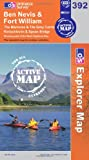 Ben Nevis and Fort William, The Mamores and the Grey Corries, Kinlochleven and Spean Bridge (OS Explorer Map Active)