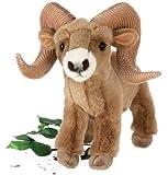 "13"" Standing Ram Big Horn Sheep Plush Stuffed Animal Toy by Fiesta Toys"
