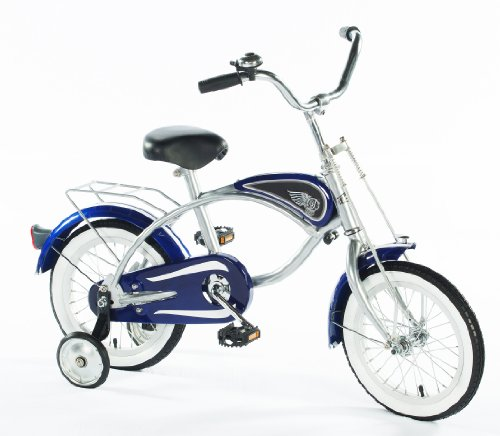 "Morgan Cycle 14"" Cruiser Bicycle with Training Wheels, Blue"