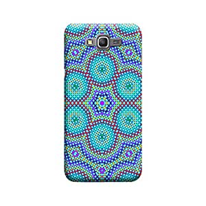 MakemyCase Samsung Grand Prime Flower Patterned 3D Matte Finishing Printed Designer Hard Back Case Cover (Blue)