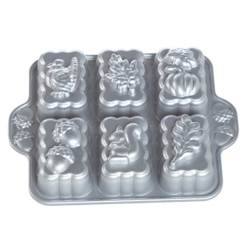 Nordic Ware Platinum Harvest Mini Loaf Pan