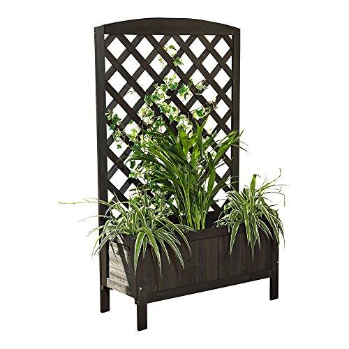 blumenkasten schwarz rankkasten rankgitter blumenst nder. Black Bedroom Furniture Sets. Home Design Ideas