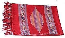 Kinari Women's Viscose Stole (Red)