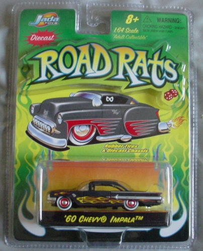 Road Rats '60 Chevy Impala BLACK 1:64 by Jada Toys