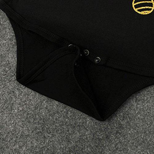 DaySeventh Newborn Baby Boy Girl Infant Romper Jumpsuit 3PC Festival Clothes Set (6M, Z-Black)