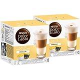 Nescafé Dolce Gusto Latte Macchiato Vanilla, Lot de 2, 2 x 16 Capsules (24 portions)