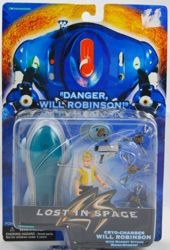 Lost In Space - Cryo-Chamber Will Robinson Figure - w/ Magnet Attack Micro Spiders - MIB by Toy Island