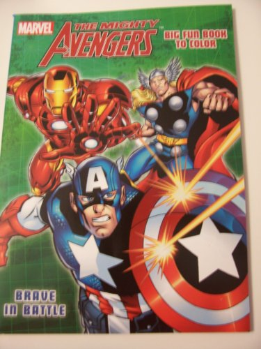 Marvel the Mighty Avengers Big Fun Book to Color ~ Brave in Battle