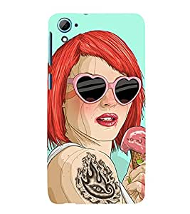 99Sublimation funky Girl 3D Hard Polycarbonate Back Case Cover for HTC Desire 826 Dual Sim