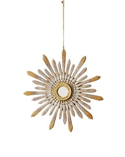 Two-Tone Star Burst Mirror Design Ornament