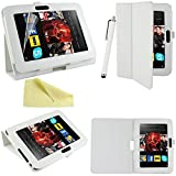 Executive PU Leather Kindle Fire HD 7 inch Case Cover Multi Function Standby Bi-Fold Stand with Built-in Magnet for Sleep / Wake Feature + Free Screen Protector + Free Stylus Pen for Kindle Fire HD 7-inch 2012 Tablet 16GB or 32GB (Oct. 25 2012 Release) -