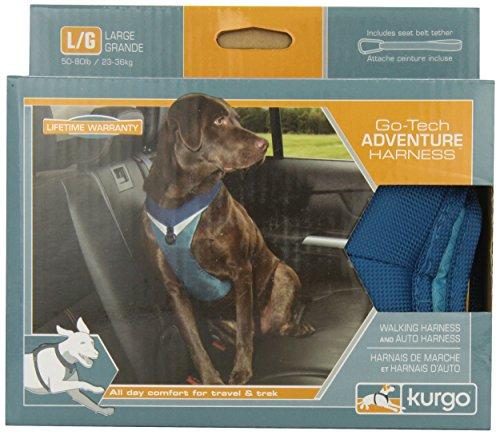 Kurgo Go-Tech Adventure Dog Harness, Large, Blue front-29982